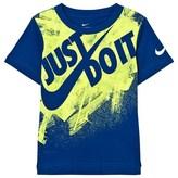 Nike Blue Just Do It Swoosh Splatter T-Shirt