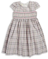 Laura Ashley Girls 2-6x Plaid Shirred Fit-and-Flare Dress