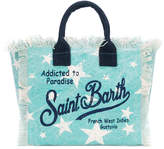 Mc2 Saint Barth Kids star print logo beach bag