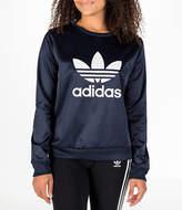 adidas Women's Originals Trefoil Satin Crew Sweatshirt