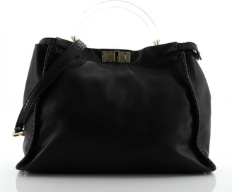 Fendi Selleria Peekaboo Bag Leather with Python and Lucite Large