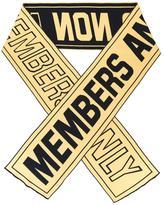 Stella McCartney Members Only scarf - men - Wool/Cotton/Polyamide/Spandex/Elastane - One Size