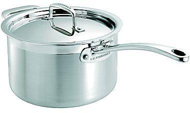 Le Creuset 4-qt. Tri-Ply Stainless Steel Saucepan