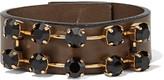 Marni Leather and crystal bracelet