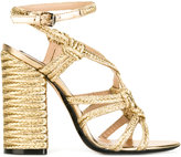 No.21 braided detail sandals - women - Leather/Straw - 35