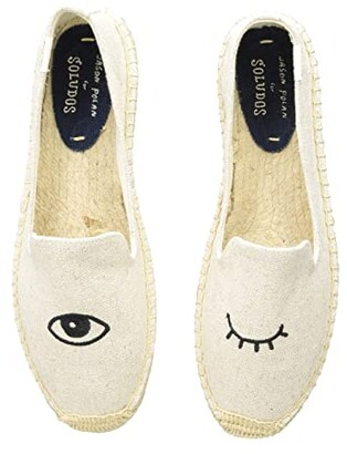Soludos Wink Embroidery SM Slipper (Wink Sand) Women's Slip on Shoes
