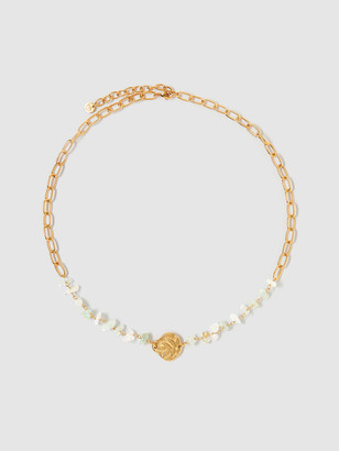 Tess + Tricia Bloom Stone Frond Necklace