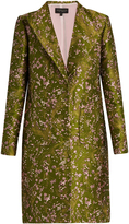 Giambattista Valli Floral-jacquard single-breasted coat