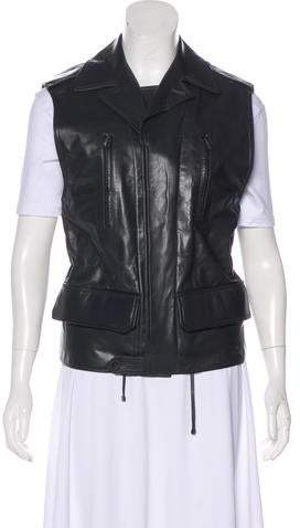 Reed Krakoff Leather and Wool Vest w/ Tags