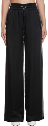Off-White Pants In Black Synthetic Fibers