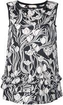Max Mara printed top with ruffles - women - Cotton - 38