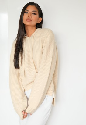 Missguided Tall Premium Sand Co Ord Knitted Boyfriend Hoodie
