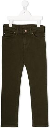 Emporio Armani Kids Mid-Rise Straight Leg Denim Jeans