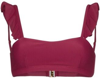 Juillet Sophie ruffle-trimmed bikini top