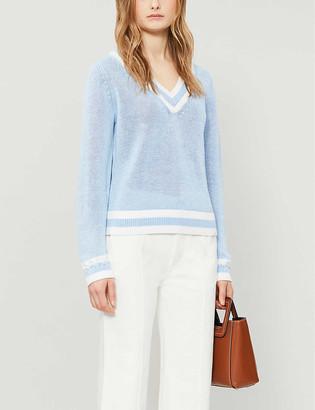 Claudie Pierlot V-neck cotton-blend jumper