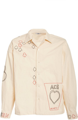Bode Embroidered Cotton-Twill Havana Shirt