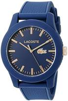 Lacoste Men's 2010817 Lacoste.12.12 Analog Display Japanese Quartz Blue Watch