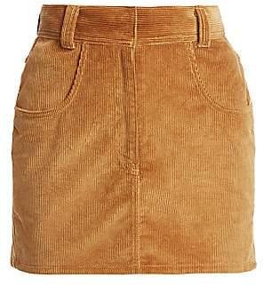 RE/DONE Women's Ultra High-Rise Corduroy Skirt