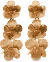 Oscar de la Renta Gold-plated Clip Earrings