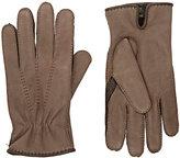 Barneys New York Men's Leather Gloves-TAN