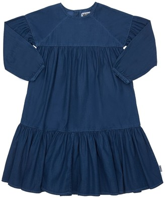 Molo Ruffled Cotton Denim Dress