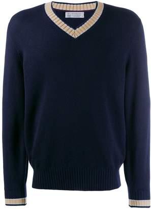 Brunello Cucinelli V-neck knit sweater