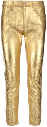 Golden Goose Embroidered Cropped Trousers