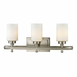 Mondovi 3-Light Vanity Light Charlton Home Finish: Brushed Nickel, Bulb Type: Dimmable 800 Lumens 13.5W LED Bulb