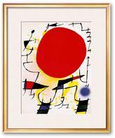 """Art.com The Red Sun"""" Vertical Framed Art Print by Joan Miro"""