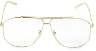 Gucci 63MM Aviator Optical Glasses