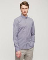 Chambray Micro Print Slim Shirt