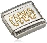 Nomination Composable Women's Charm Classic 18 K Gold CARIAD Lettering Picture 030107 / 20 stainless steel