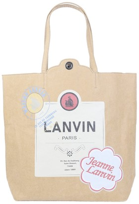 Lanvin Beige Labels Bag
