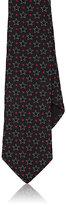 Givenchy Men's Star-Embroidered Silk Necktie