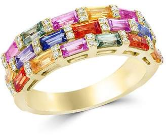 Bloomingdale's Multicolor Sapphire and Diamond Ring in 14K Yellow Gold - 100% Exclusive