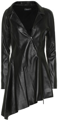 Thierry Mugler Asymmetric leather minidress