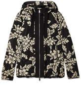 Moncler Hooded Grosgrain-trimmed Printed Shell Jacket