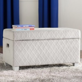 Grove Lane Abner Upholstered Storage Bench Grovelane