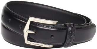Stacy Adams Men's Plus 30mm Pinseal Leather Belt (Reg & Big Sizes)