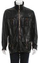 Versace Leather Utility Jacket