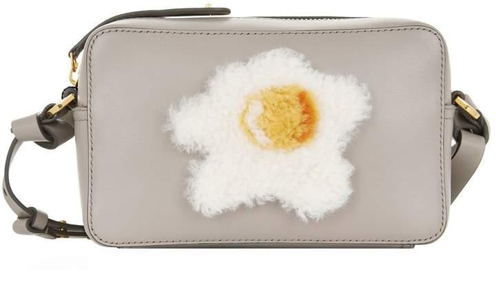 Anya Hindmarch Mini Shearling Egg Cross Body Bag