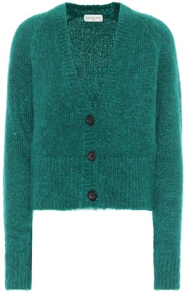 Dries Van Noten Cropped mohair-blend cardigan