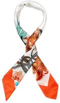 "Blumarine Floral Silk Square Scarf, 35"" x 35"""