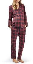 Topshop Women's Plaid Maternity Pajamas