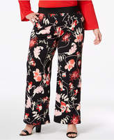 Alfani Plus Size Printed Pull-On Palazzo Pants, Created for Macy's