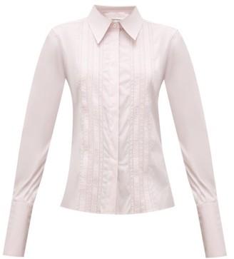 Wales Bonner Santiago Pintucked Cotton-blend Shirt - Pink