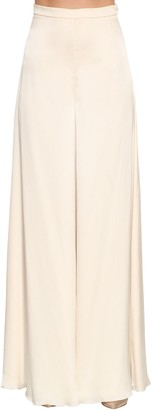 Temperley London Castalia Wide Leg Silk Satin Pants