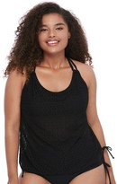 So Plus Size Mix and Match Crochet Tankini Top