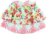 RUFFLE BUTTS Painted Flowers Mix-Print Skirt (Toddler & Big Girls)