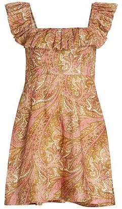 Zimmermann Brighton Ruffle-Neck Dress